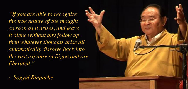 Sogyal Rinpoche on meditation